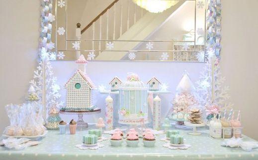 Charming winter wonderland party decoration kids ideas 32