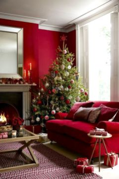 Fascinating christmas tree ideas for living room 07