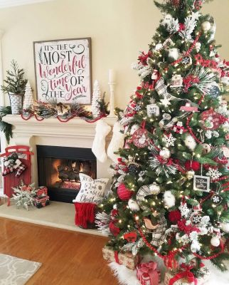 Fascinating christmas tree ideas for living room 36