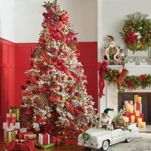 Fascinating christmas tree ideas for living room 49