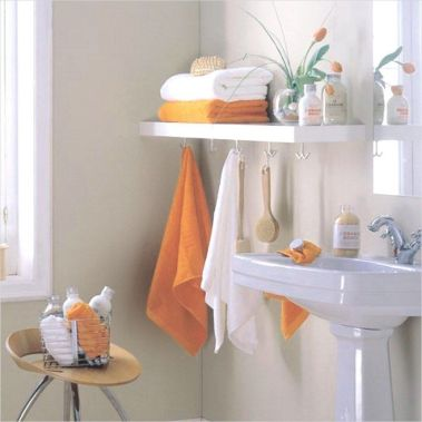Lovely diy bathroom organisation shelves ideas 05