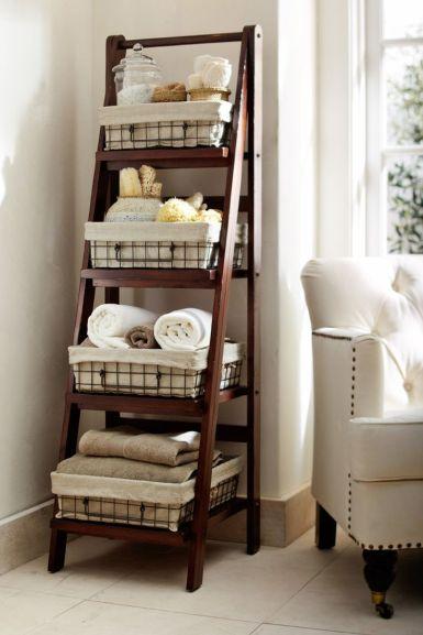 Lovely diy bathroom organisation shelves ideas 06