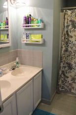 Lovely diy bathroom organisation shelves ideas 14