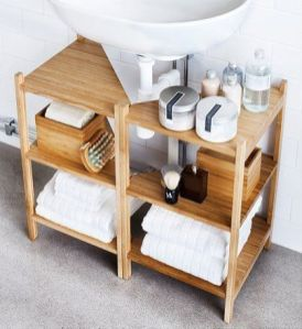 Lovely diy bathroom organisation shelves ideas 16