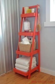 Lovely diy bathroom organisation shelves ideas 17