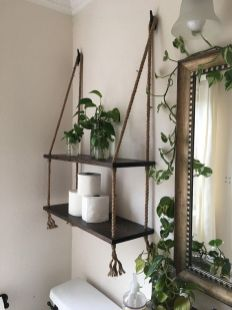 Lovely diy bathroom organisation shelves ideas 22