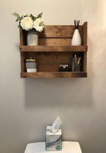 Lovely diy bathroom organisation shelves ideas 23