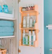 Lovely diy bathroom organisation shelves ideas 28