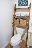 Lovely diy bathroom organisation shelves ideas 30