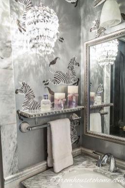 Lovely diy bathroom organisation shelves ideas 36
