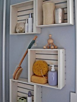Lovely diy bathroom organisation shelves ideas 41