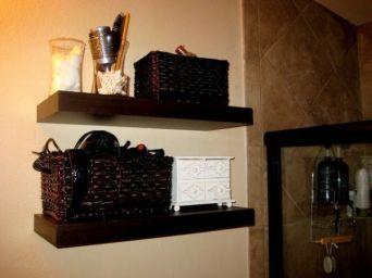 Lovely diy bathroom organisation shelves ideas 42