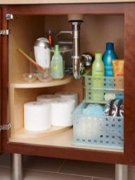 Lovely diy bathroom organisation shelves ideas 43
