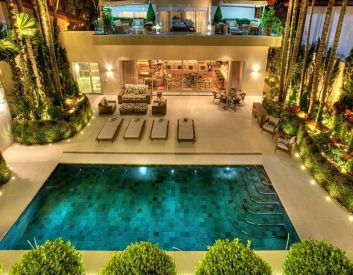 Minimalist small pool design with beautiful garden inside 04