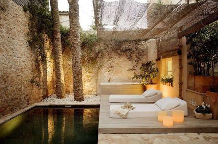 Minimalist small pool design with beautiful garden inside 06