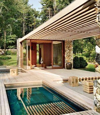 Minimalist small pool design with beautiful garden inside 11