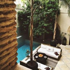 Minimalist small pool design with beautiful garden inside 13