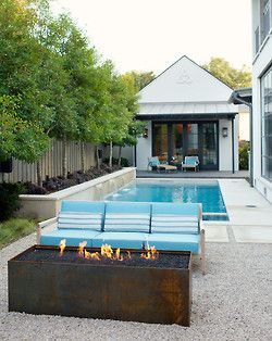 Minimalist small pool design with beautiful garden inside 18