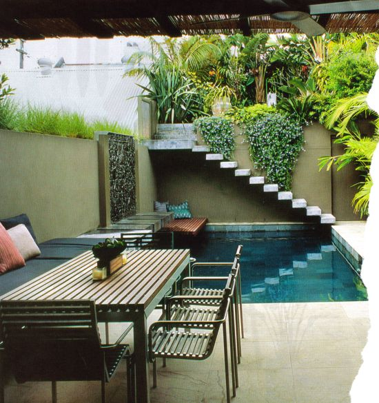 Minimalist small pool design with beautiful garden inside 28