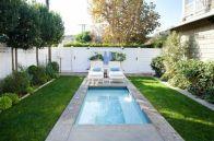 Minimalist small pool design with beautiful garden inside 29