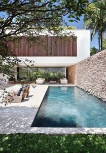 Minimalist small pool design with beautiful garden inside 31