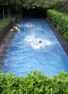 Minimalist small pool design with beautiful garden inside 33