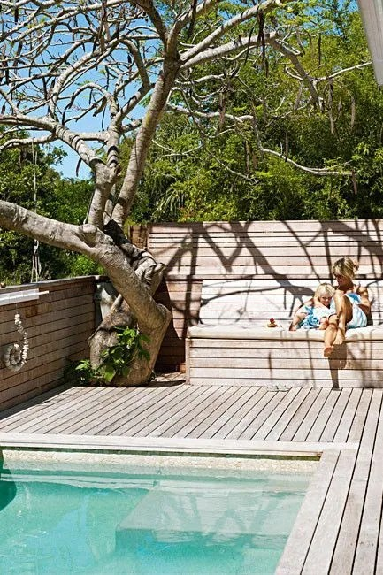 Minimalist small pool design with beautiful garden inside 42