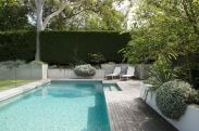 Minimalist small pool design with beautiful garden inside 53