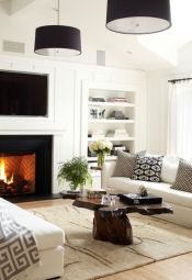 Modern white living room design ideas 09