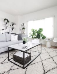 Modern white living room design ideas 10
