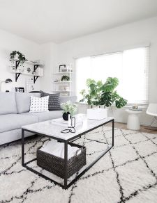 Modern white living room design ideas 10