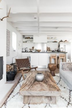 Modern white living room design ideas 15