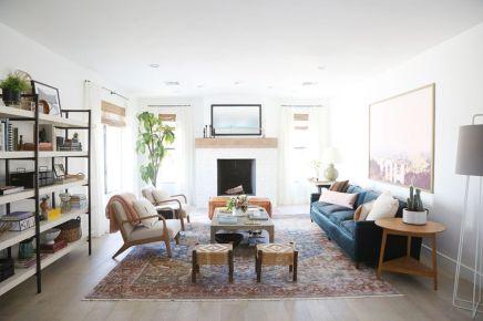 Modern white living room design ideas 23