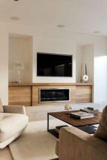 Modern white living room design ideas 32