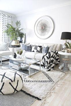 Modern white living room design ideas 36