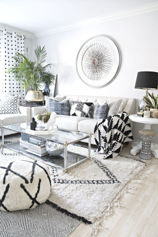 Modern white living room design ideas 36