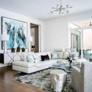 Modern white living room design ideas 39