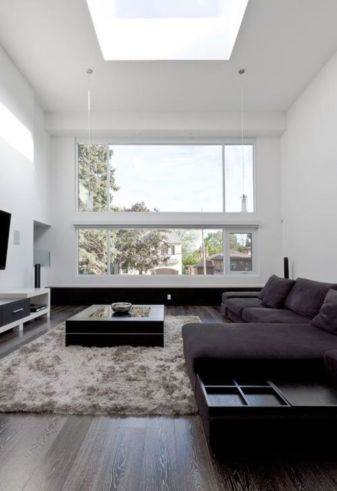 Modern white living room design ideas 45