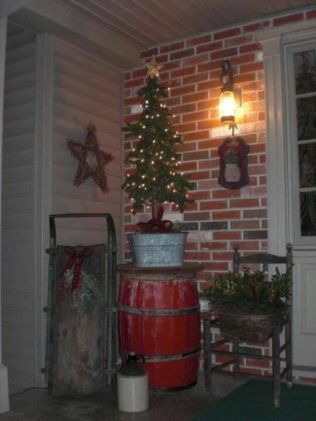 Perfect diy front porch christmas tree ideas on a budget 28