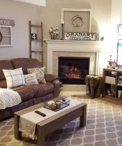 Romantic rustic farmhouse living room decor ideas 03