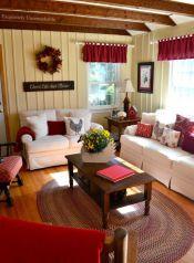 Romantic rustic farmhouse living room decor ideas 19