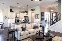 Romantic rustic farmhouse living room decor ideas 36