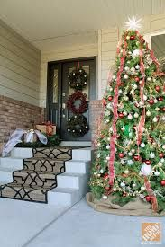 Stunning diy front porch christmas tree ideas on a budget 11