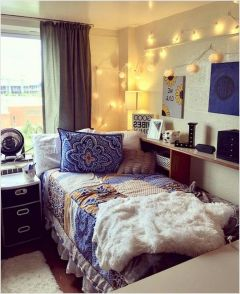 Stylish cool dorm rooms style decor ideas 26