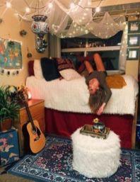 Stylish cool dorm rooms style decor ideas 36
