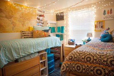 Stylish cool dorm rooms style decor ideas 41