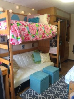 Stylish cool dorm rooms style decor ideas 44