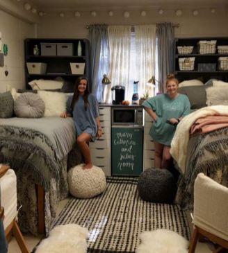 Stylish cool dorm rooms style decor ideas 51