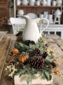 Unique diy farmhouse thanksgiving decorations ideas 08