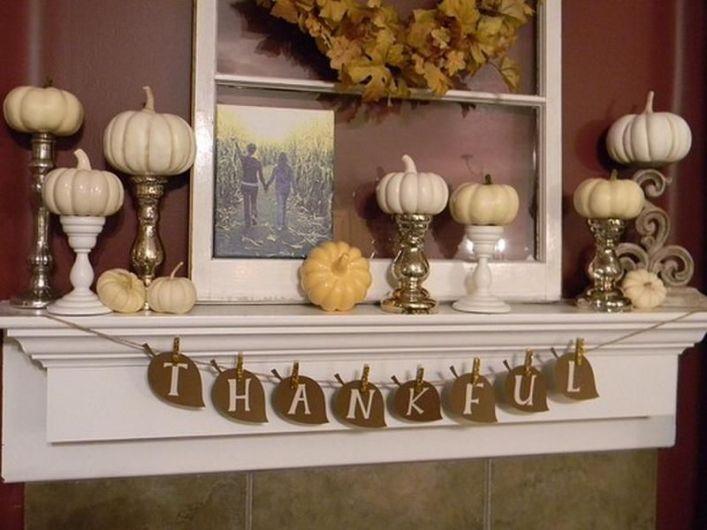 Unique diy farmhouse thanksgiving decorations ideas 49